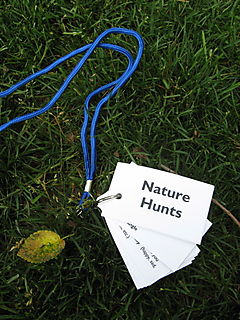 Nature hunt lanyard