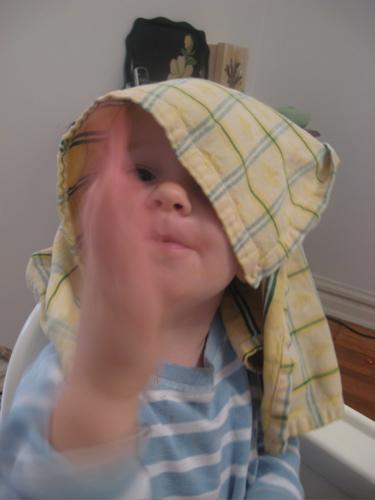 Ben with yellow napkin