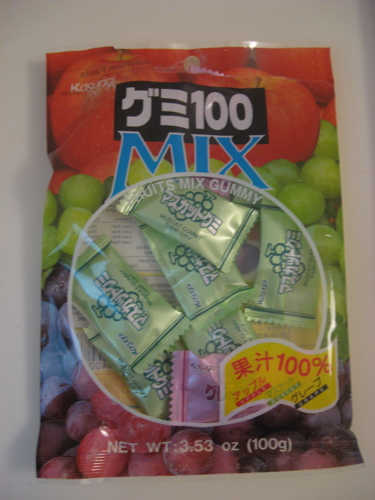 Japanese fruit gummies