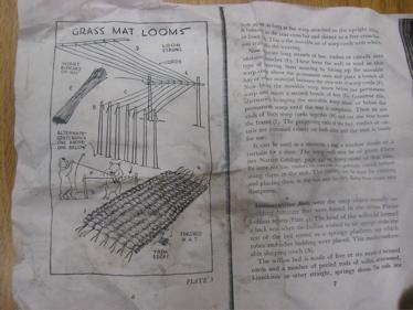 Grass mat loom photocopy