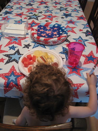 4th of july table and ben