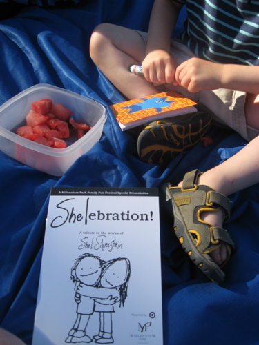 Shelabration and watermelon