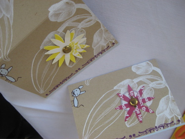 Binth cards with new flowers