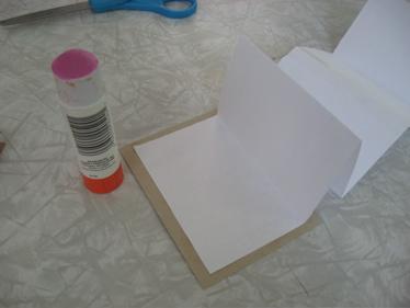 Accordian paper glued
