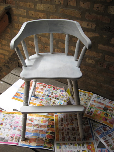 Primered chair