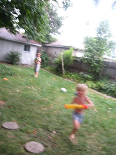 Sam running from jarek