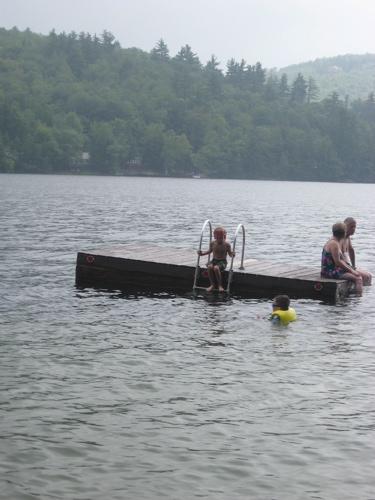 Sam on raft