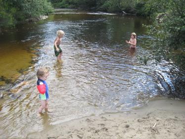 Boys at river