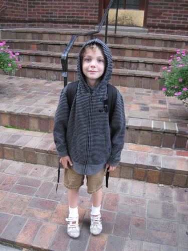 Sam first day of school 09