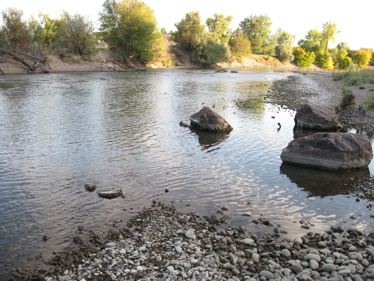 River in pueblo