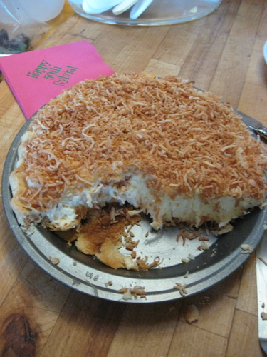 Belle's coconut cream pie