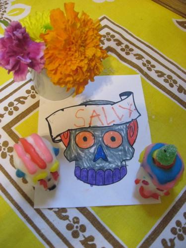 Sally and sugar skulls