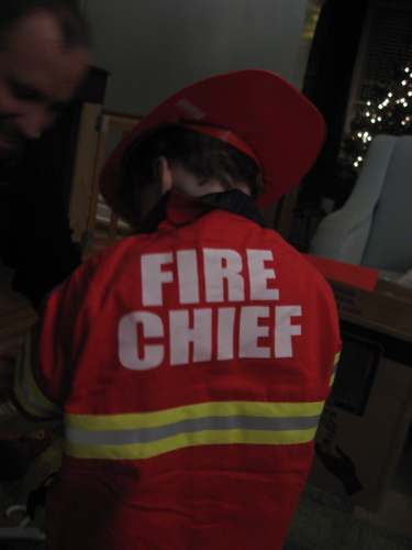 Fire chief back