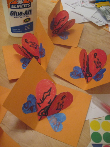 Pop up heart cards