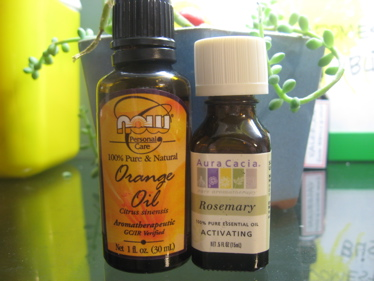 Orange and rosemary oils