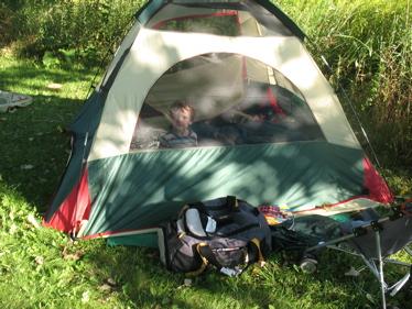 Ben in tent