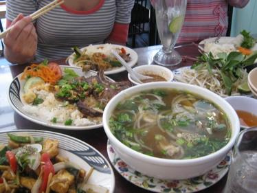 Cafe hoang pho and pork chops