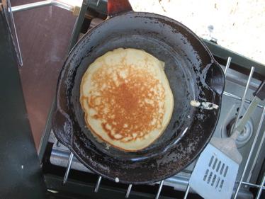 Pancakes camping
