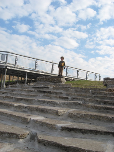 Stearns quarry ben on steps