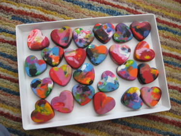 Tray of hearts