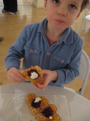 Ben with swedish waffle