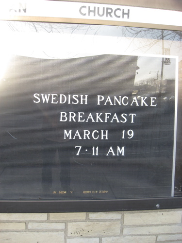 Swedish pancake sign