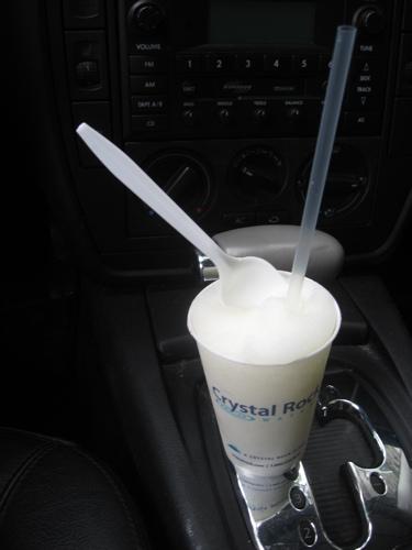 Mario's lemonade in car