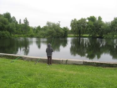 Sam fishing at sherman