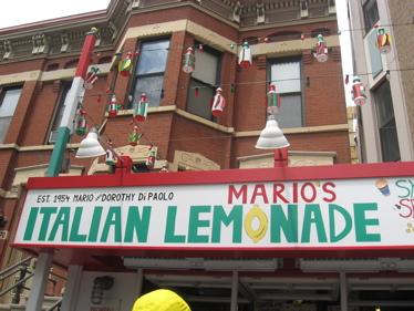 Mario's lemonade sign