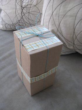 Wrapped tea box
