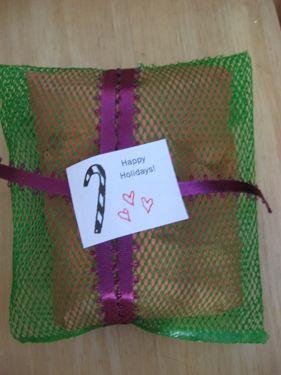 Wrapped garlic bag