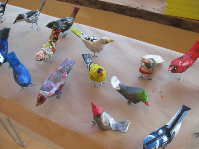 Sarah's birds drying