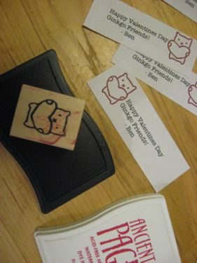 Vday stamp & ink