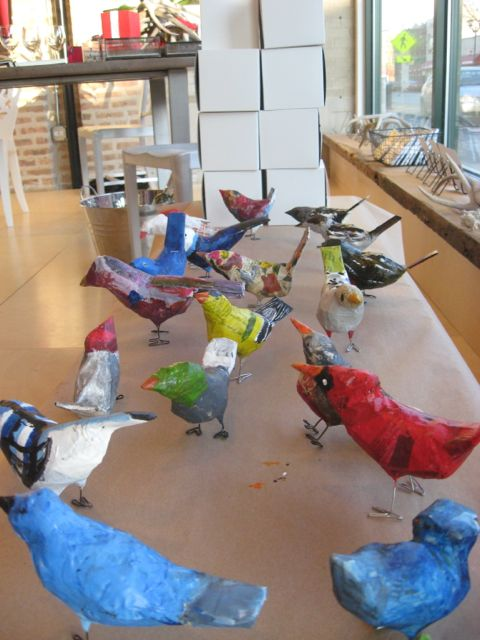 Sarah's birds drying 2