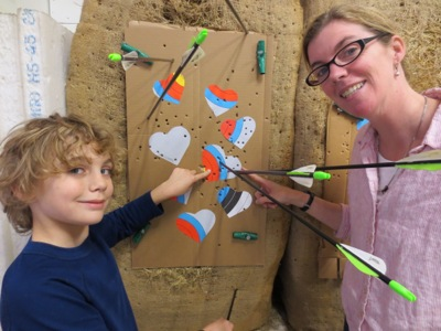 Archery sam and mom
