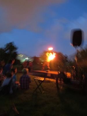 Fire dancer at garfield