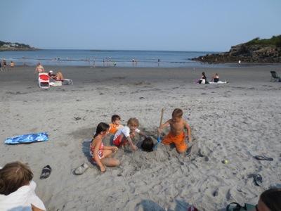 York beach digging