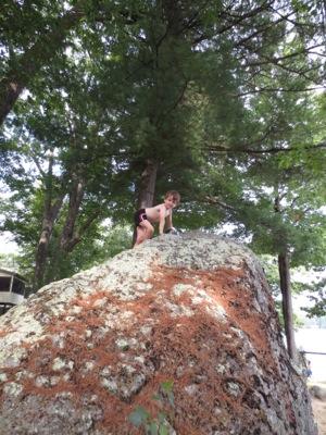 Ben on boulder